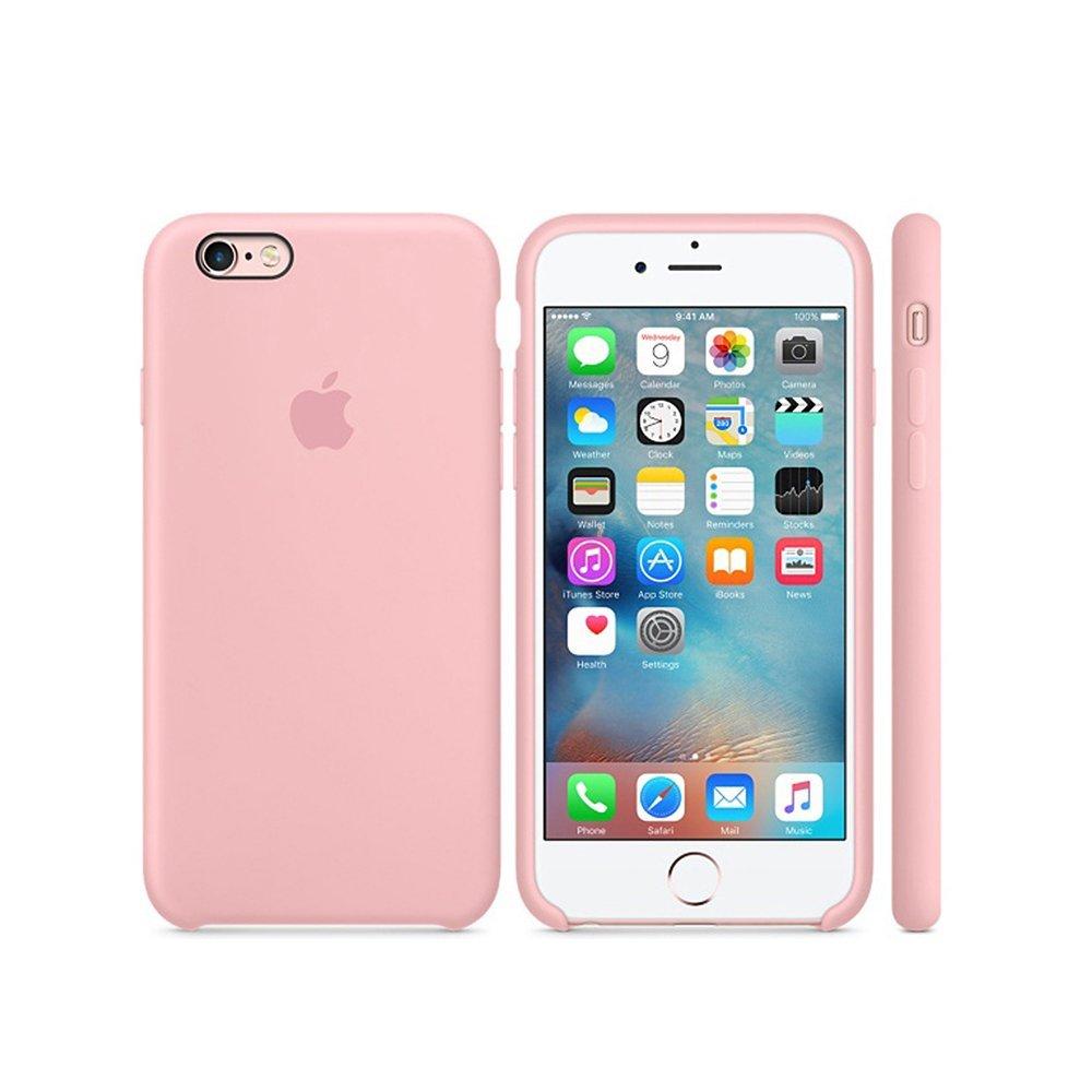 Apple silikónový obal pre iPhone 6 Plus / 6S Plus - Ružový 3