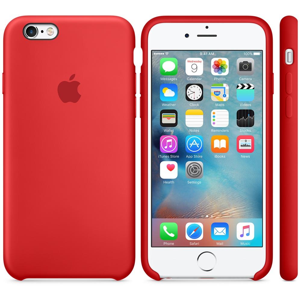 Apple silikónový obal pre iPhone 6 / 6S - červený 3