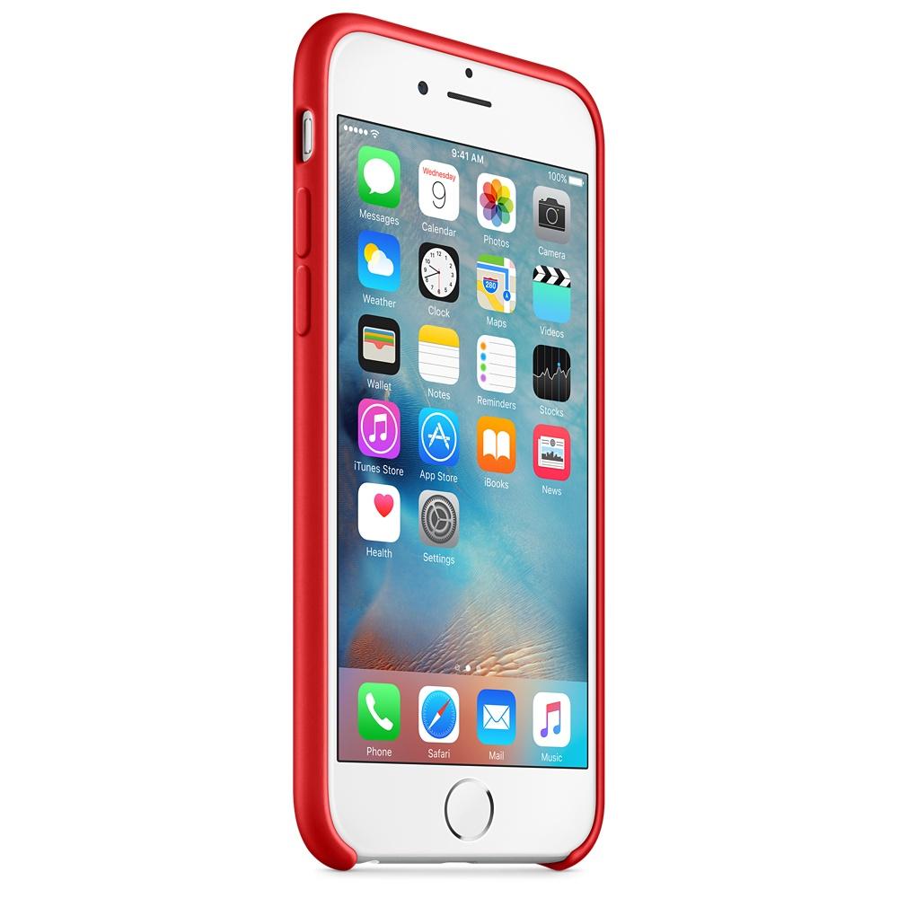 Apple silikónový obal pre iPhone 6 / 6S - červený 2