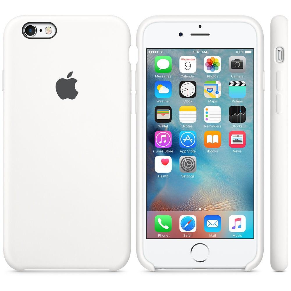 Apple silikónový obal pre iPhone 6 / 6S – biely 3