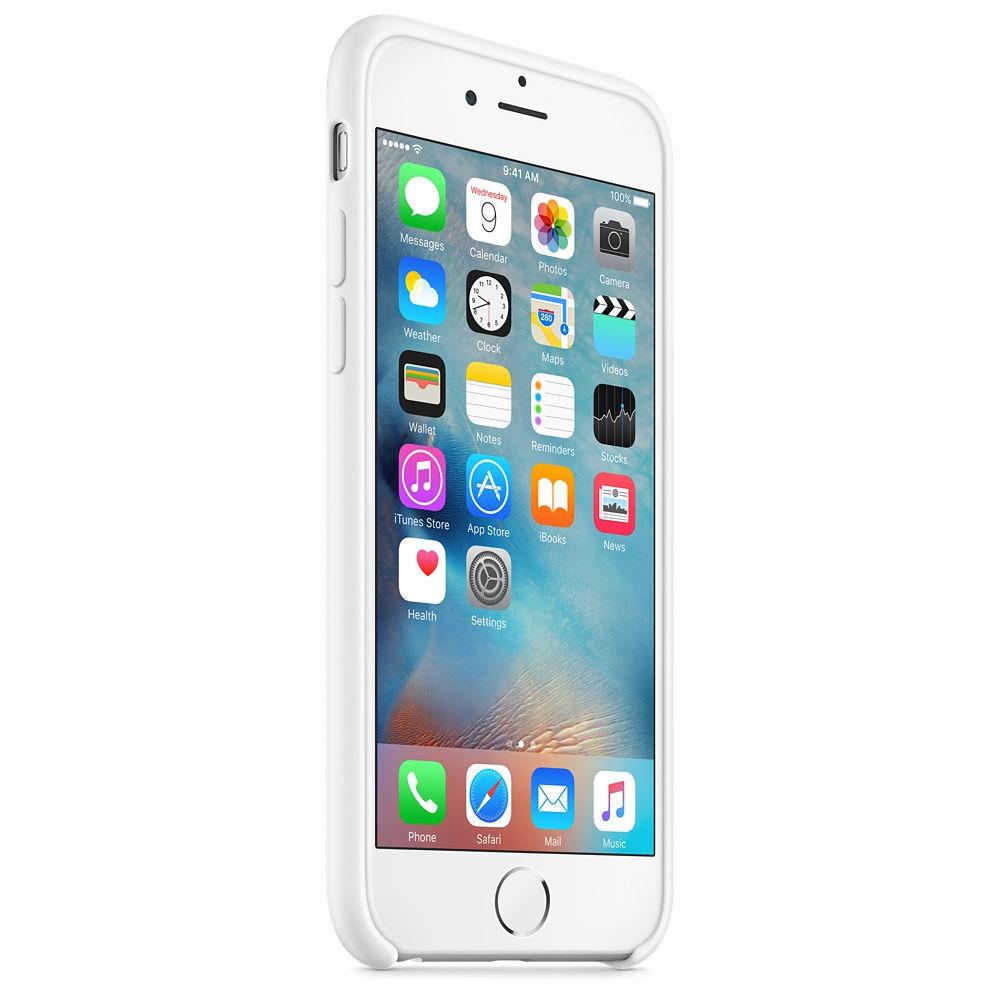 Apple silikónový obal pre iPhone 6 / 6S – biely 2