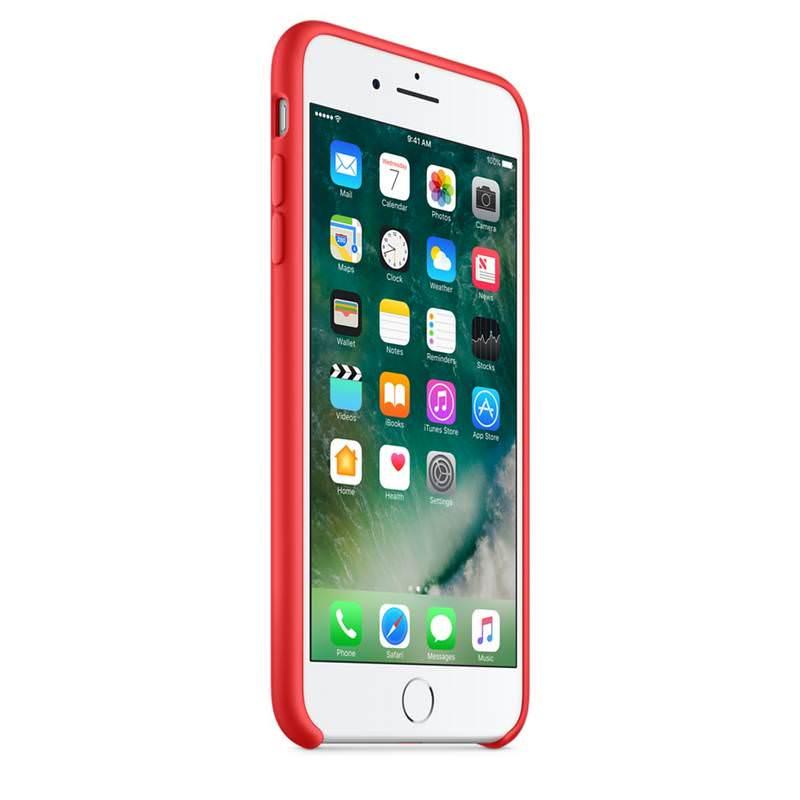 Apple silikónový obal pre iPhone 7 Plus / 8 Plus - červený 2
