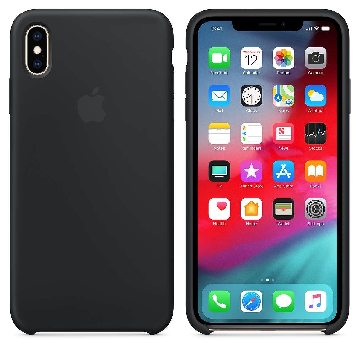 Apple silikónový obal pre iPhone XS Max - čierny 3