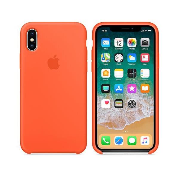 Apple silikónový obal pre iPhone X – oranžový 3