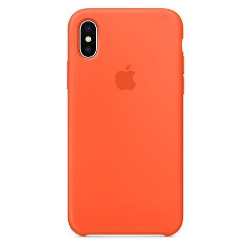 Apple silikónový obal pre iPhone X – oranžový 1