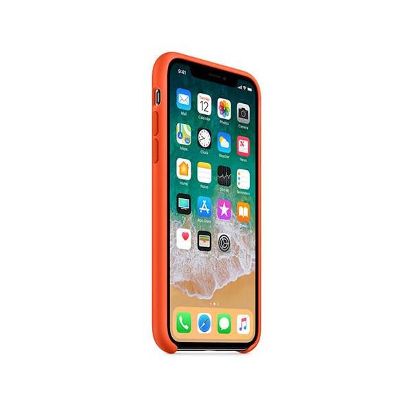 Apple silikónový obal pre iPhone XS – oranžový 2