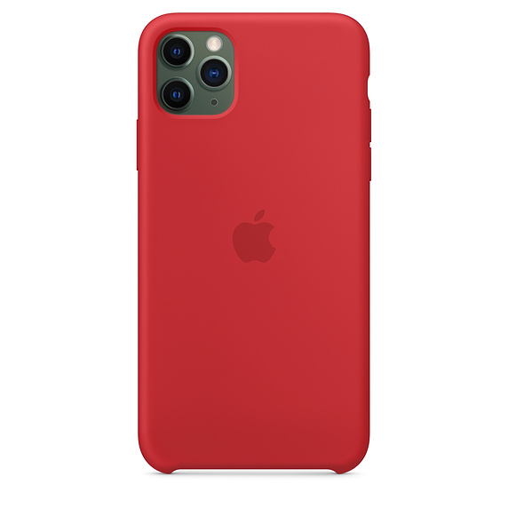 Apple silikónový obal pre iPhone 11 Pro Max - červený 3