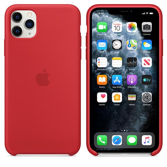 Apple silikónový obal pre iPhone 11 Pro Max - červený 4