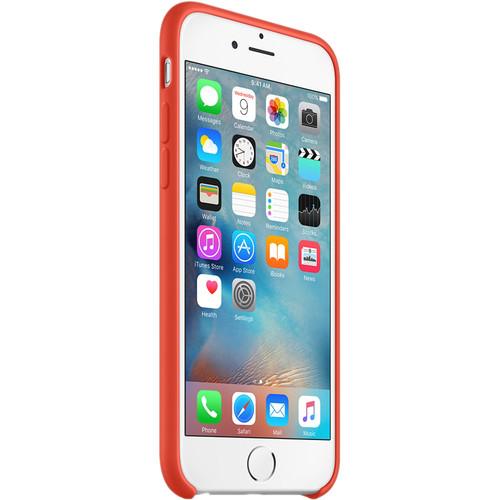 Apple silikónový obal pre iPhone 6 / 6S – oranžový 2