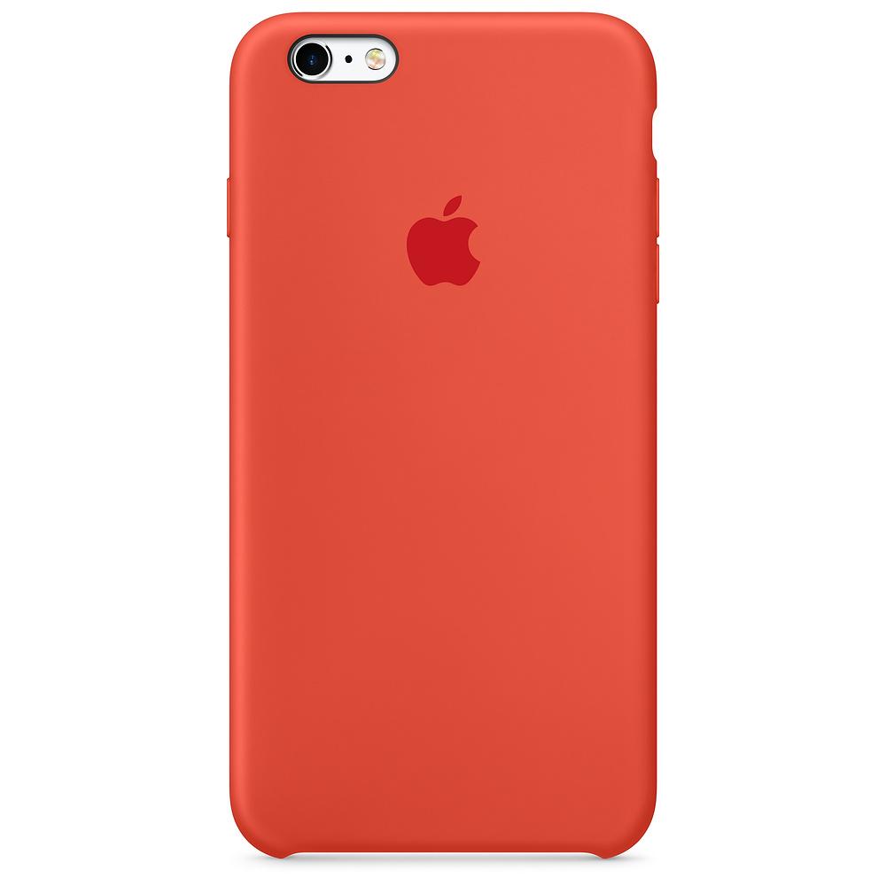 Apple silikónový obal pre iPhone 6 / 6S – oranžový 1
