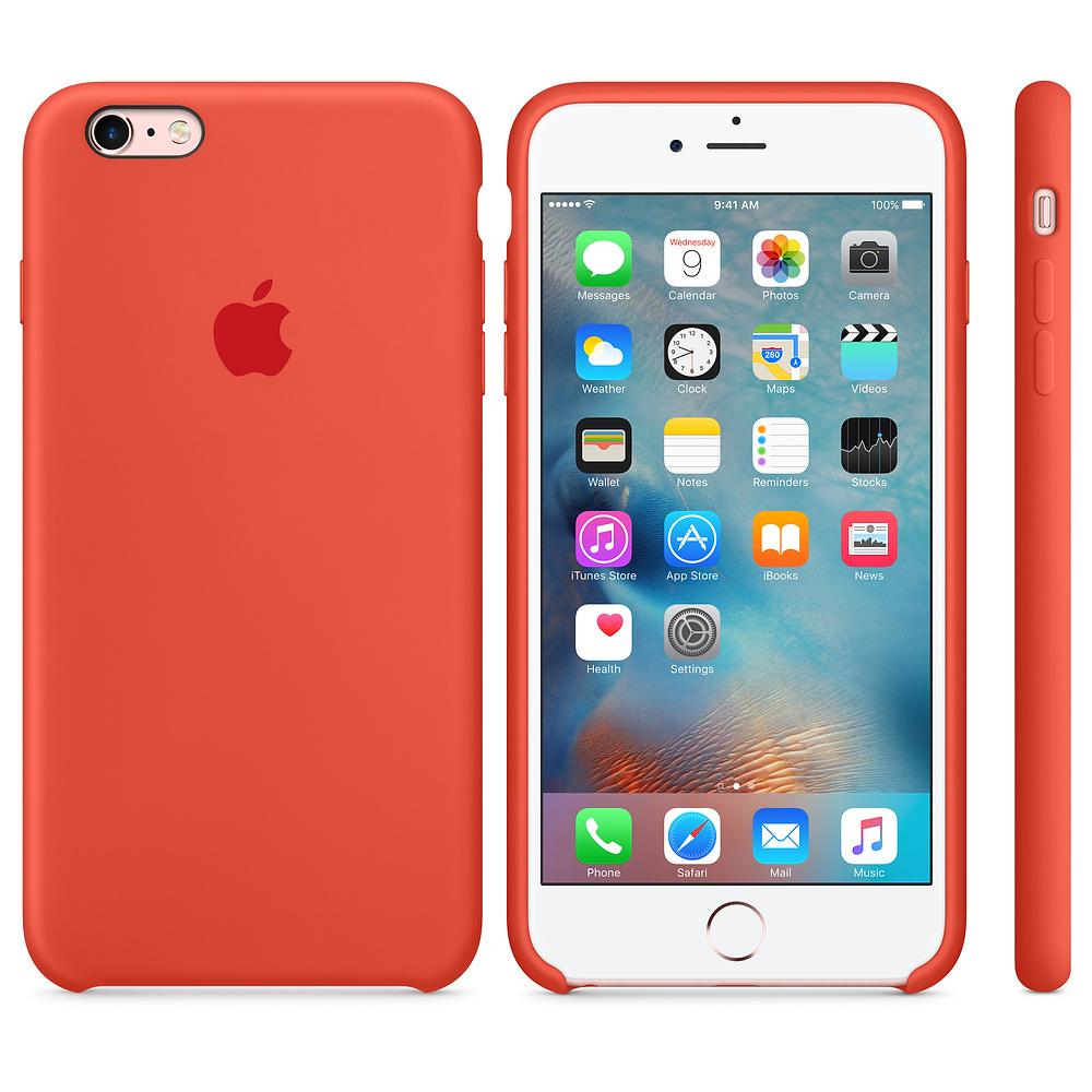 Apple silikónový obal pre iPhone 6 / 6S – oranžový 3