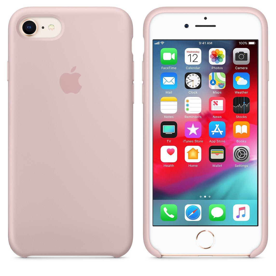 Apple silikónový obal pre iPhone 7 / 8 – Ružový 2