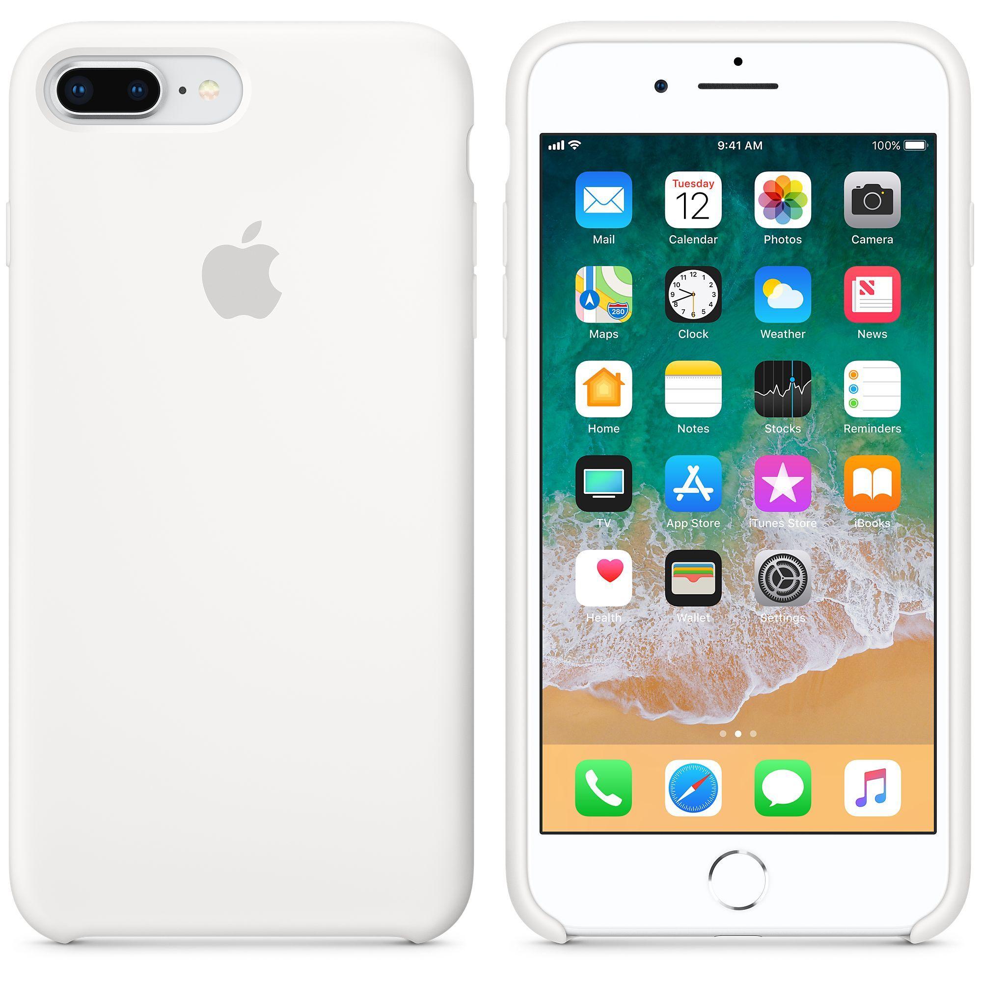 Apple silikónový obal pre iPhone 7 Plus / 8 Plus – biely 3