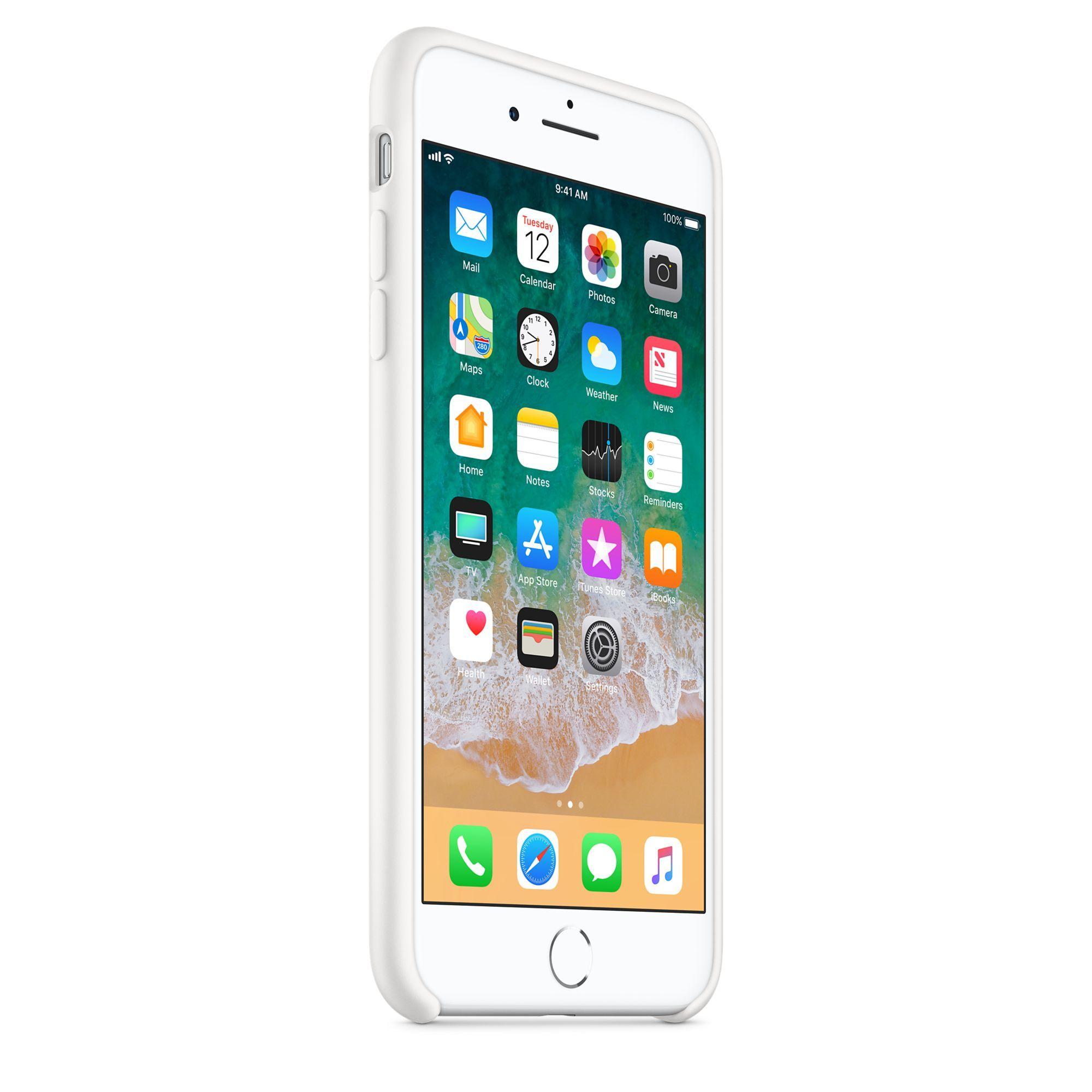 Apple silikónový obal pre iPhone 7 Plus / 8 Plus – biely 2