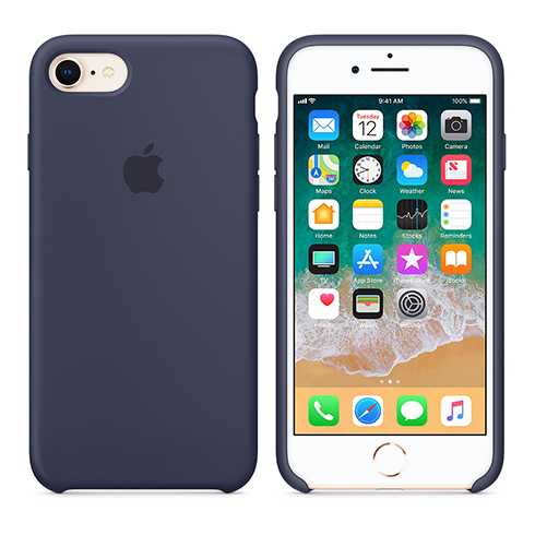 Apple silikónový obal pre iPhone 7 / 8 – modrý 3