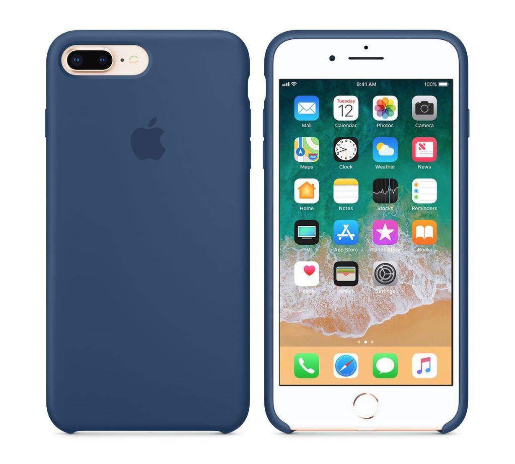 Apple silikónový obal pre iPhone 7 Plus / 8 Plus – modrý 3