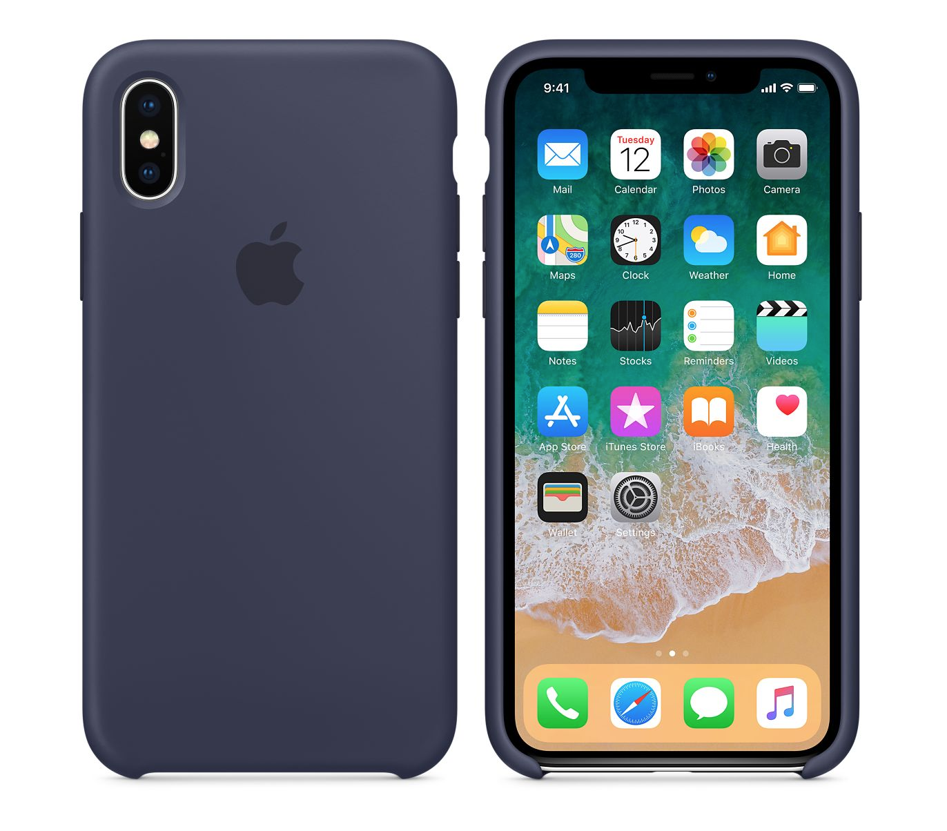 Apple silikónový obal pre iPhone XS – modrý 3
