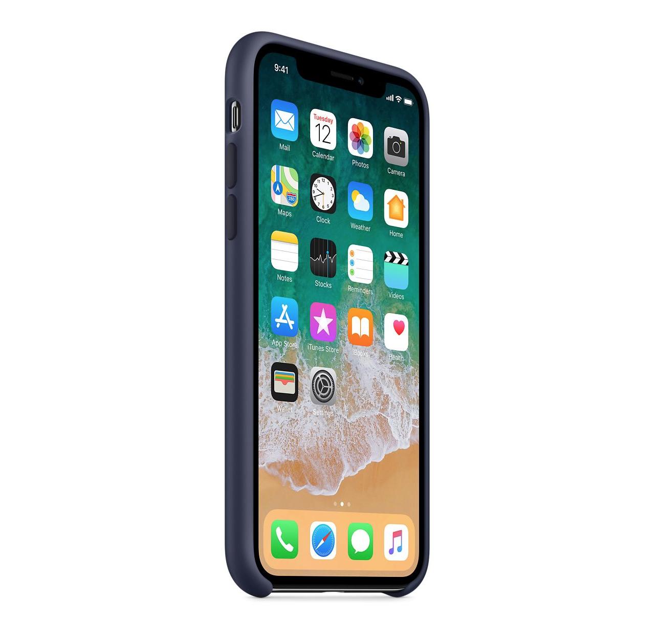 Apple silikónový obal pre iPhone XS – modrý 2