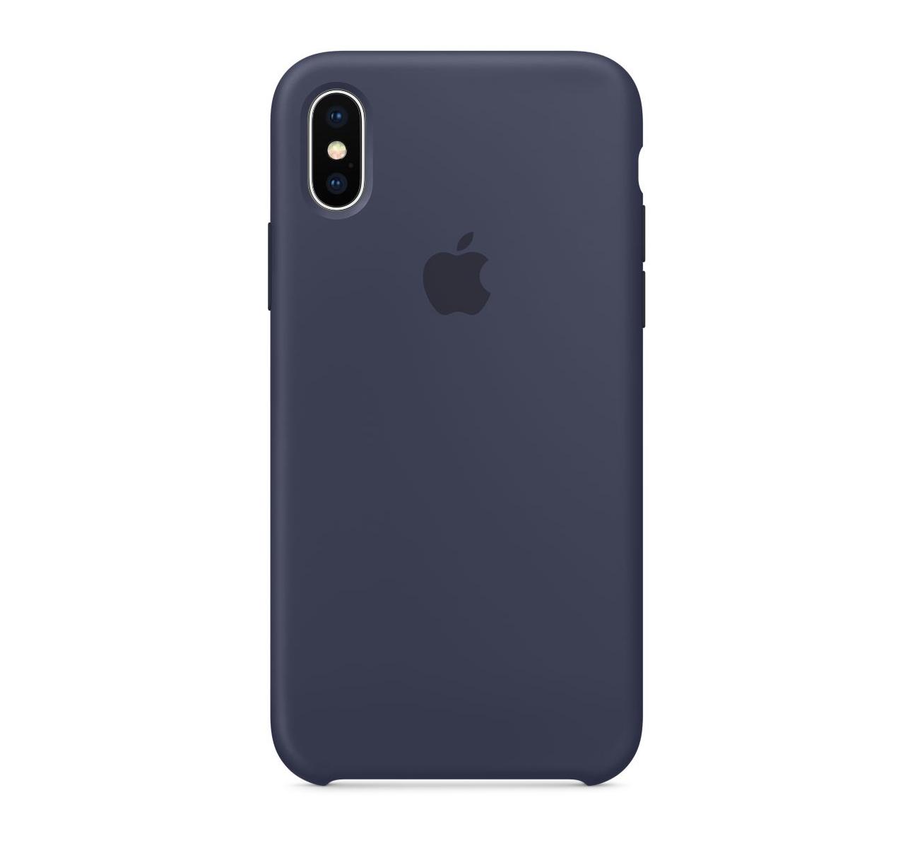 Apple silikónový obal pre iPhone XS – modrý 1