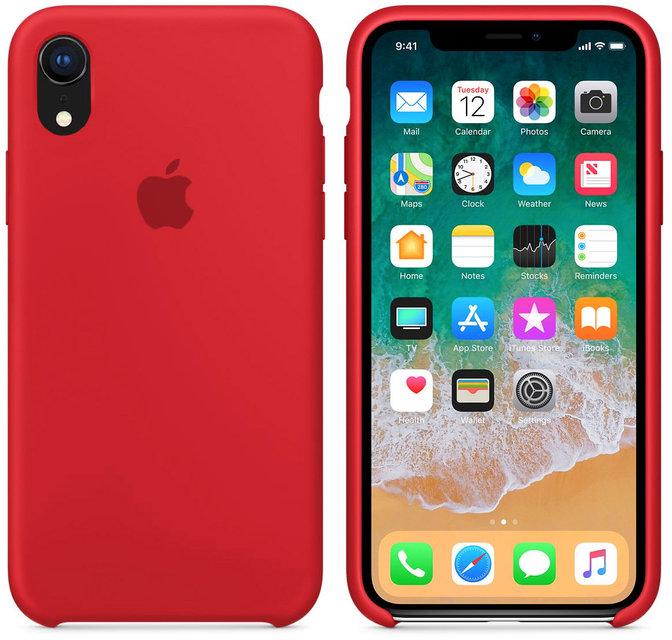 Apple silikónový obal pre iPhone XR - červený 2