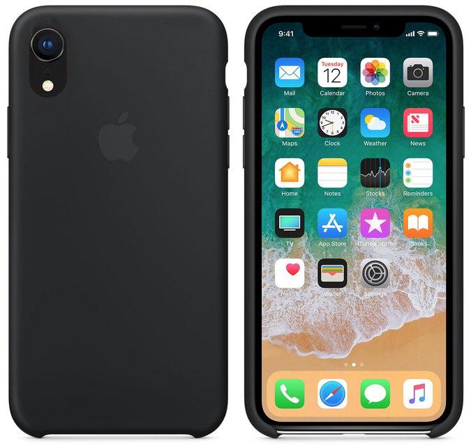 Apple silikónový obal pre iPhone XR - čierny 2