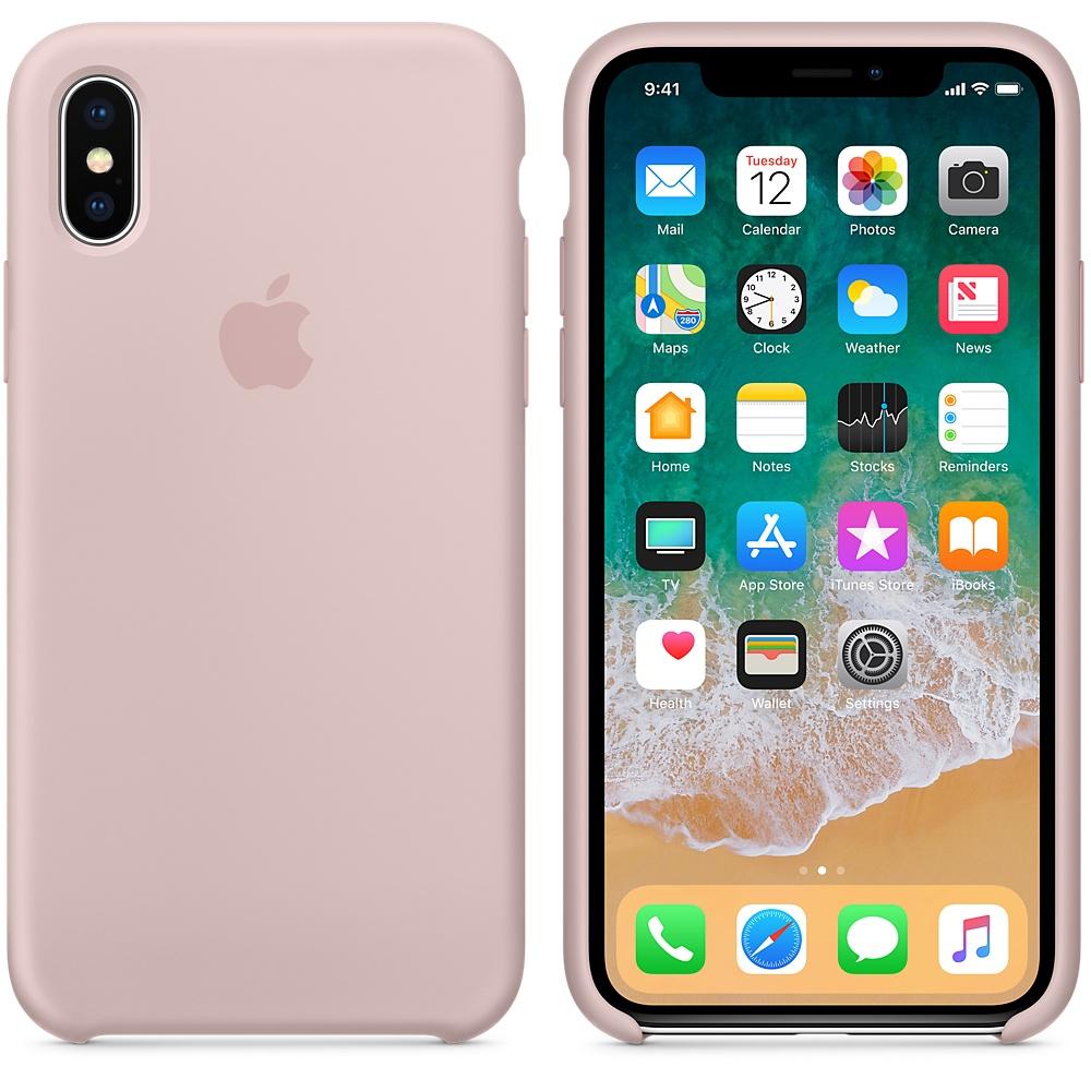 Apple silikónový obal pre iPhone XS – Ružový 3