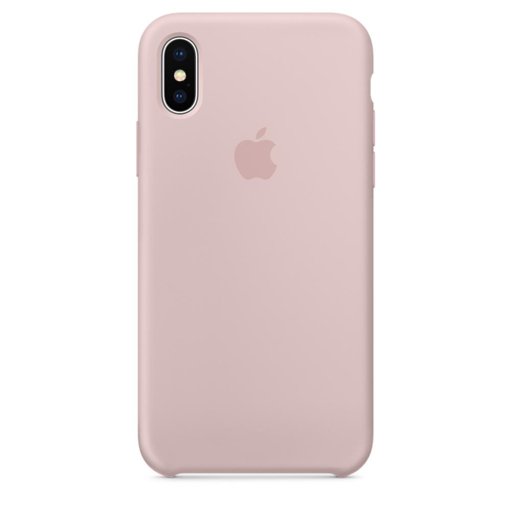 Apple silikónový obal pre iPhone XS – Ružový 1
