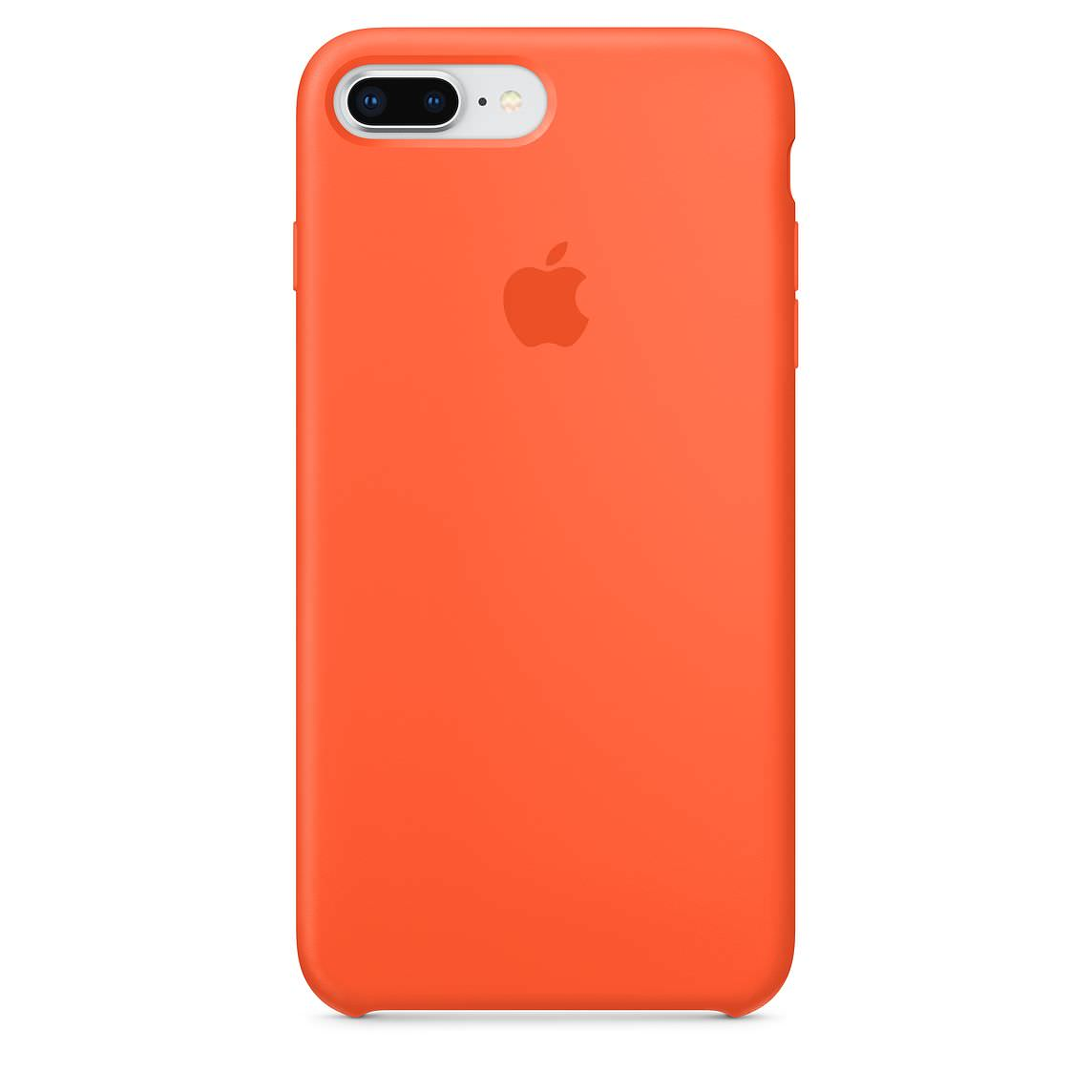 Apple silikónový obal pre iPhone 7 Plus / 8 Plus – oranžový 1