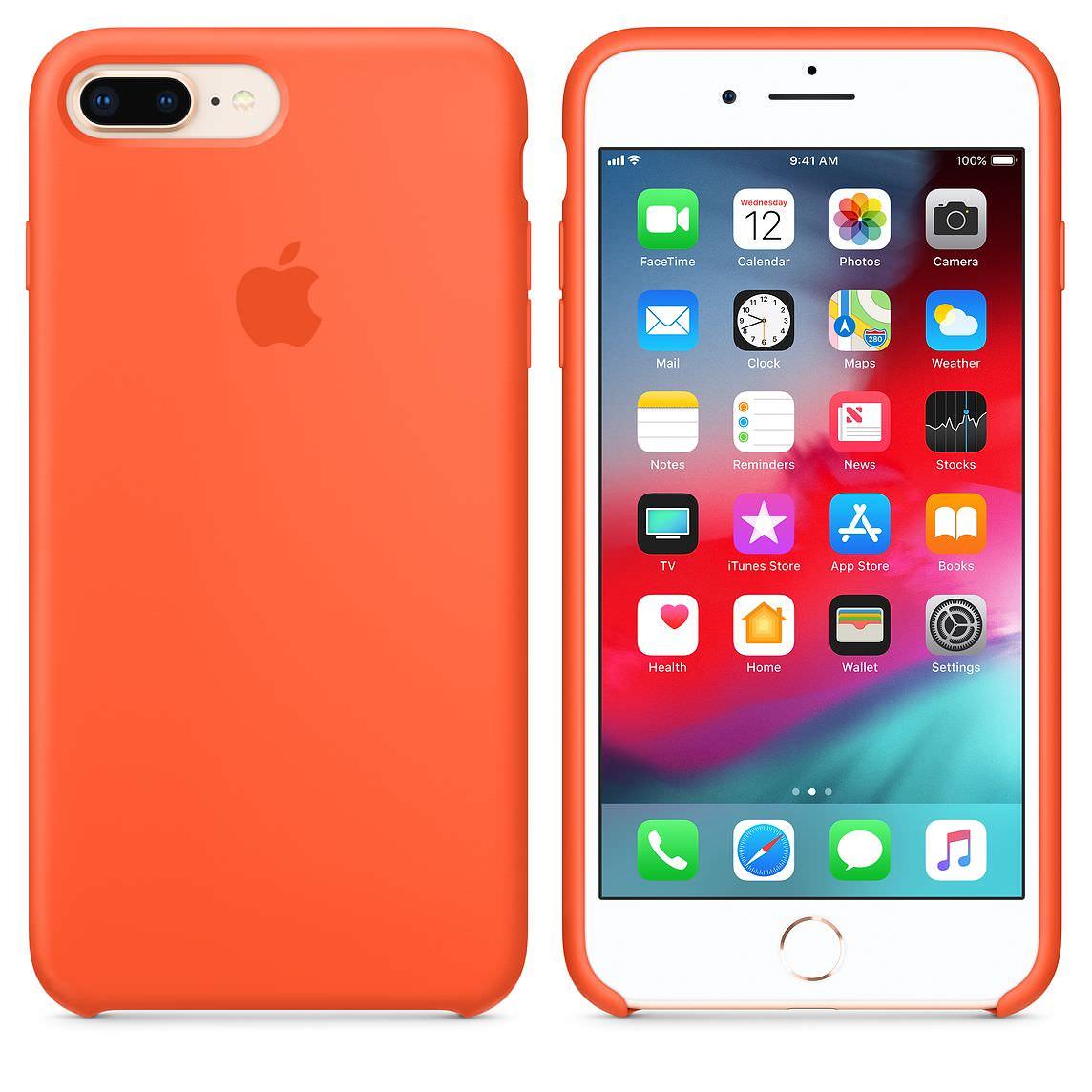 Apple silikónový obal pre iPhone 7 Plus / 8 Plus – oranžový 3