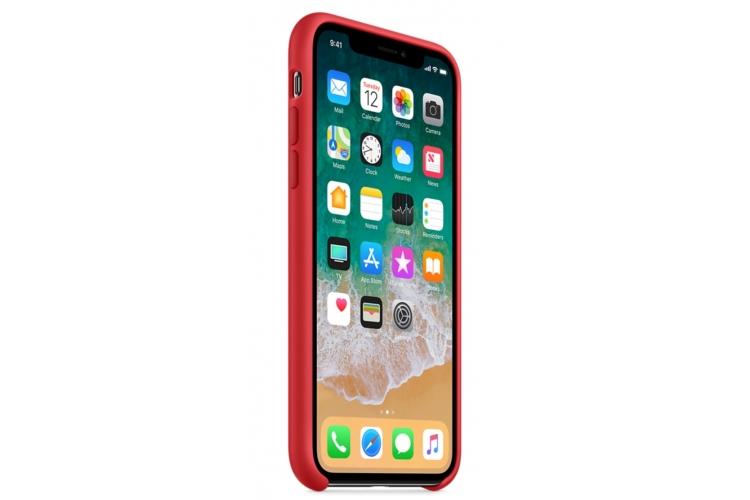 Apple silikónový obal pre iPhone XS Max - červený 2