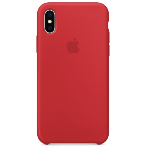 Apple silikónový obal pre iPhone XS Max - červený 1
