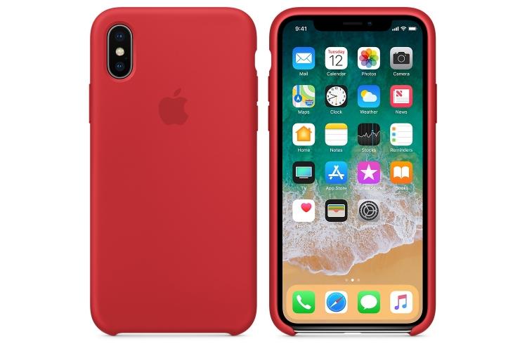 Apple silikónový obal pre iPhone XS Max - červený 4