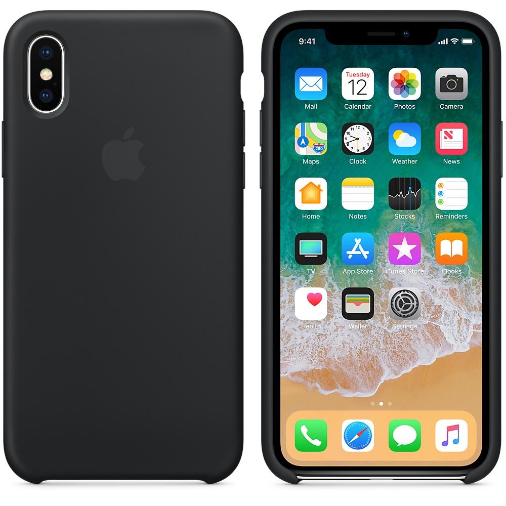Apple silikónový obal pre iPhone X - čierny 3