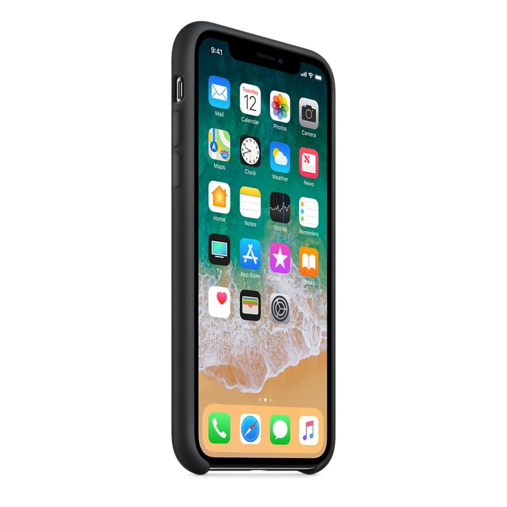 Apple silikónový obal pre iPhone X - čierny 2
