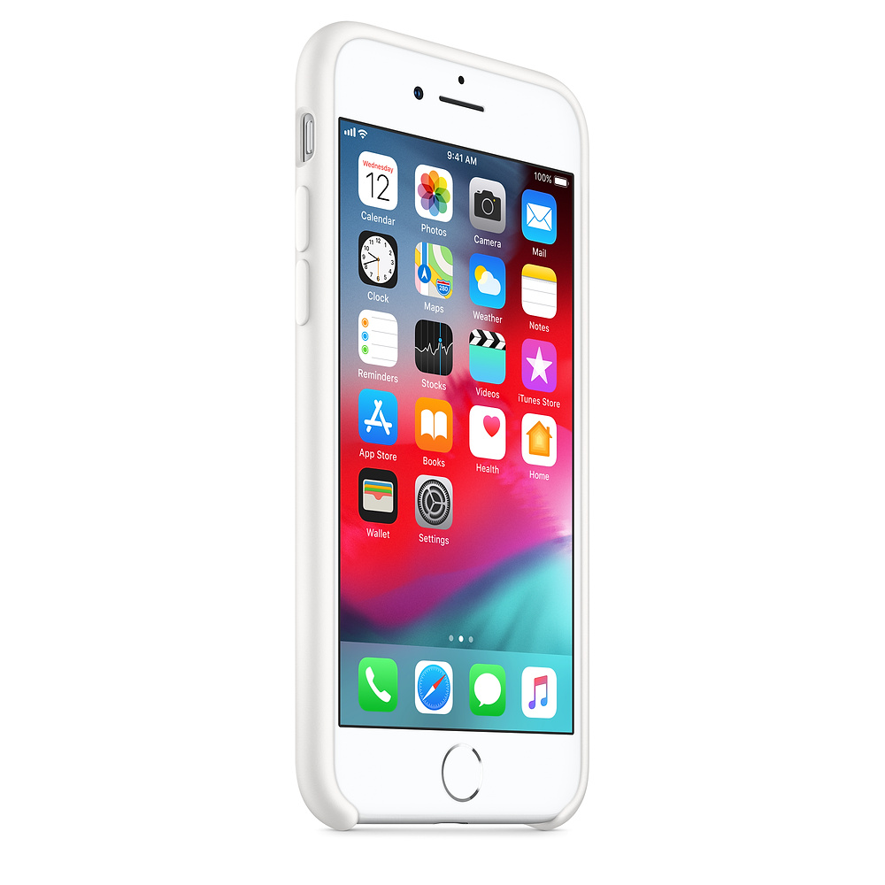 Apple silikónový obal pre iPhone SE 2020 – biely 2