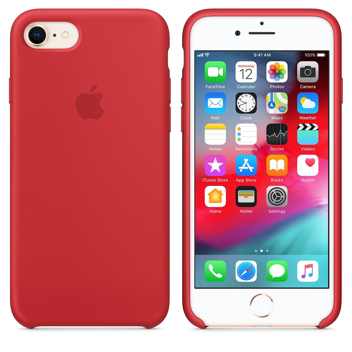 Apple silikónový obal pre iPhone 7 / 8 - červený 3