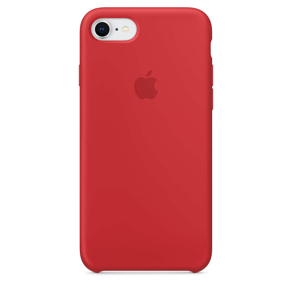 Apple silikónový obal pre iPhone SE 2020 - červený 1