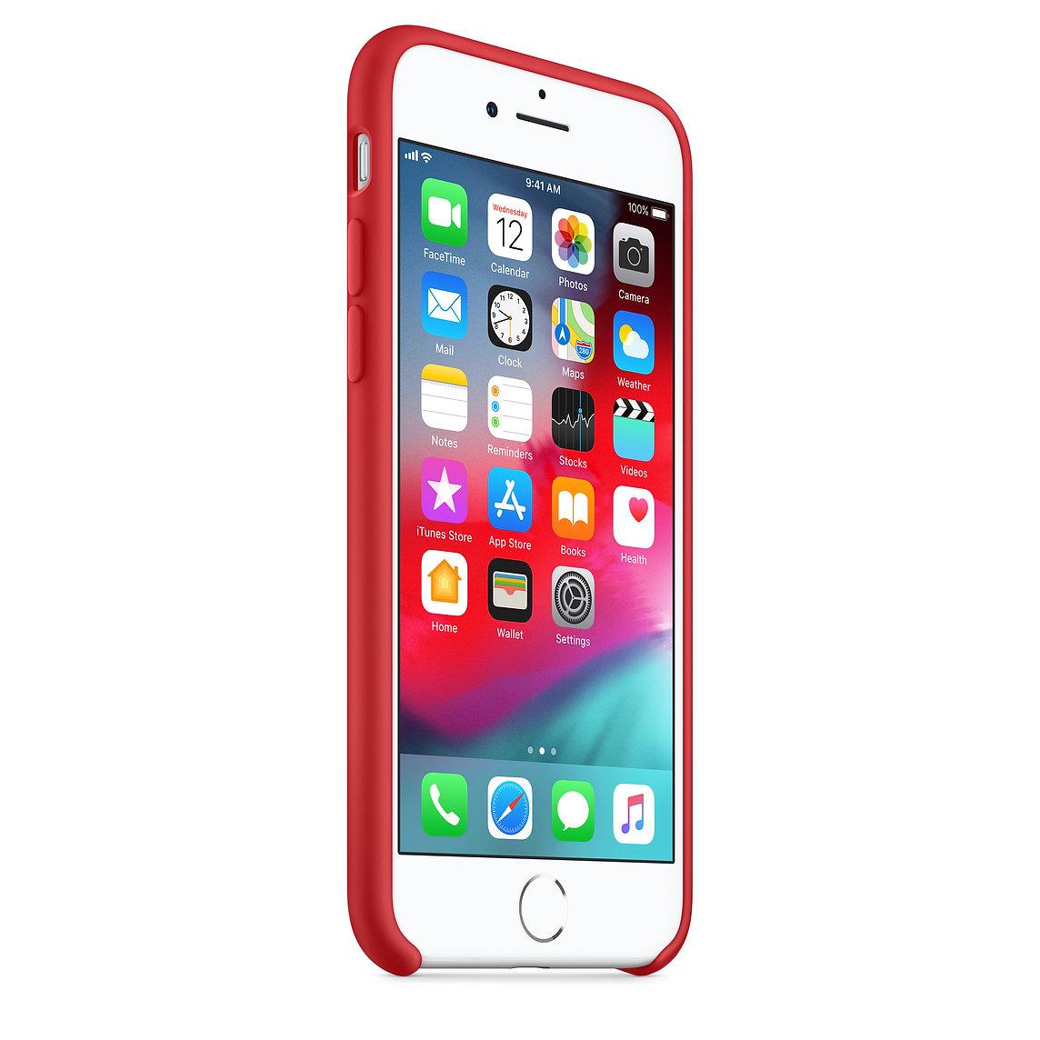 Apple silikónový obal pre iPhone 7 / 8 - červený 2