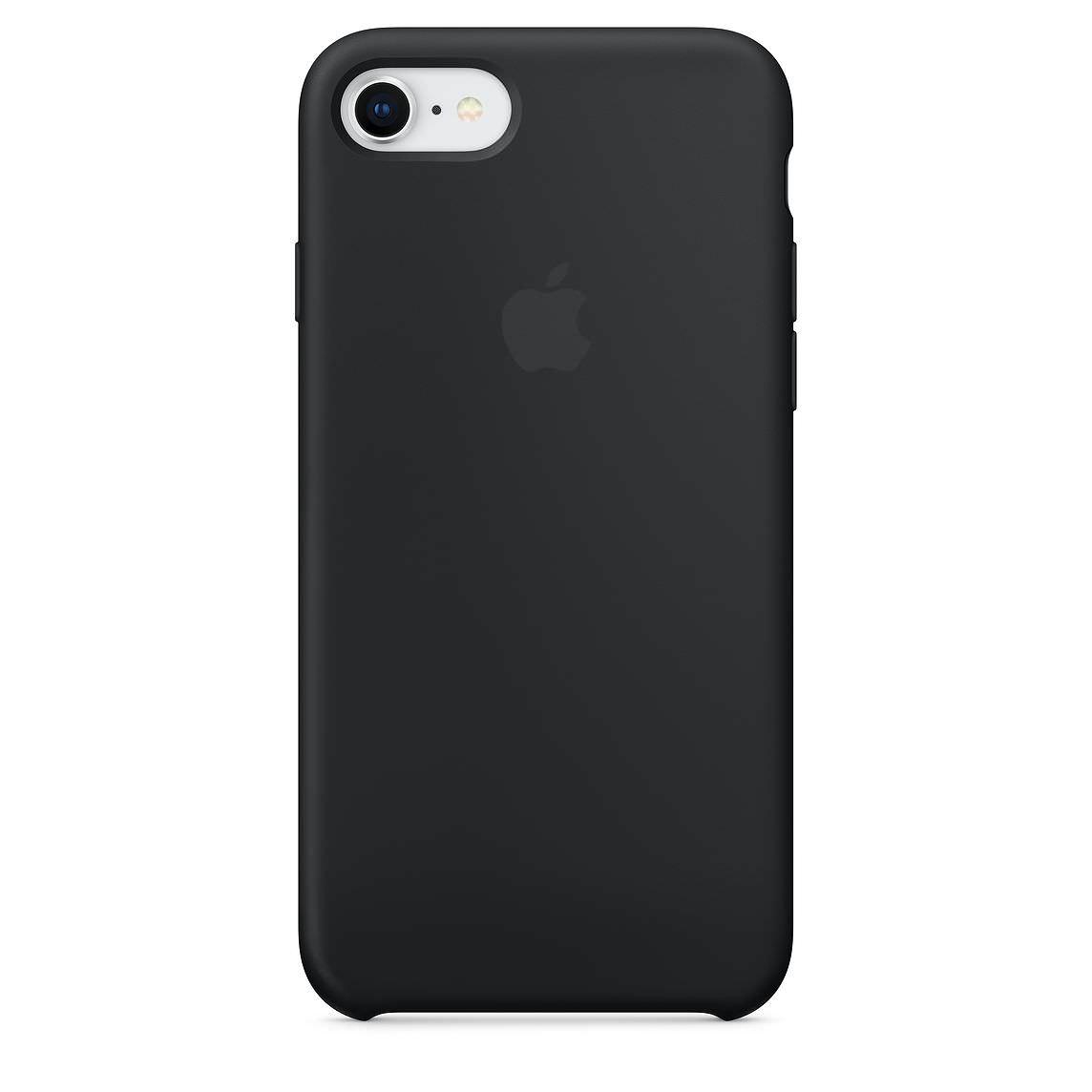 Apple silikónový obal pre iPhone SE 2020 - čierny 1