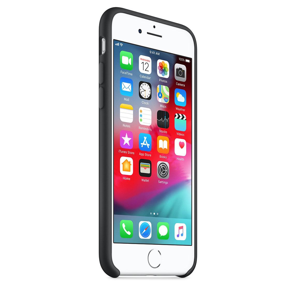 Apple silikónový obal pre iPhone SE 2020 - čierny 2