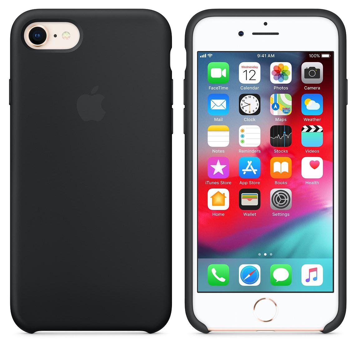 Apple silikónový obal pre iPhone SE 2020 - čierny 3