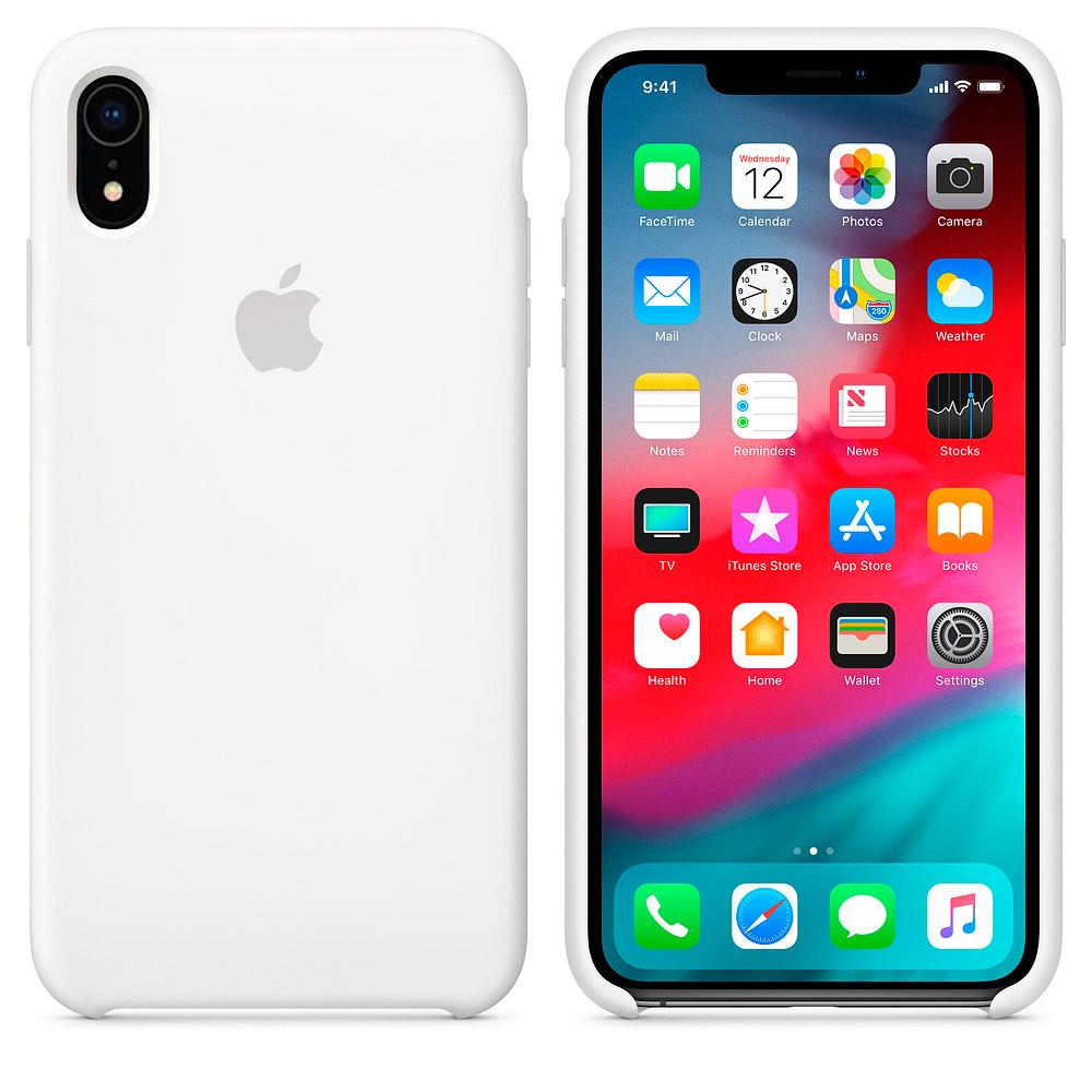 Apple silikónový obal pre iPhone XR – biely 2