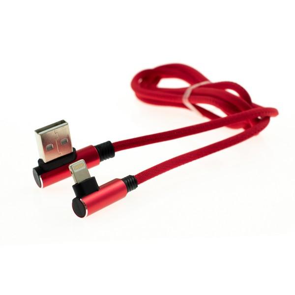Apple Lightning 90-stupňový kábel - 1m, červený 2