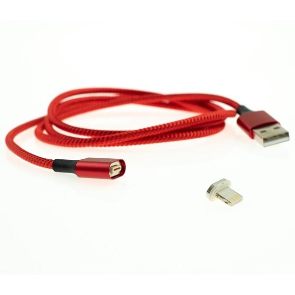 Apple Lightning magnetický kábel - 1m, červený 1