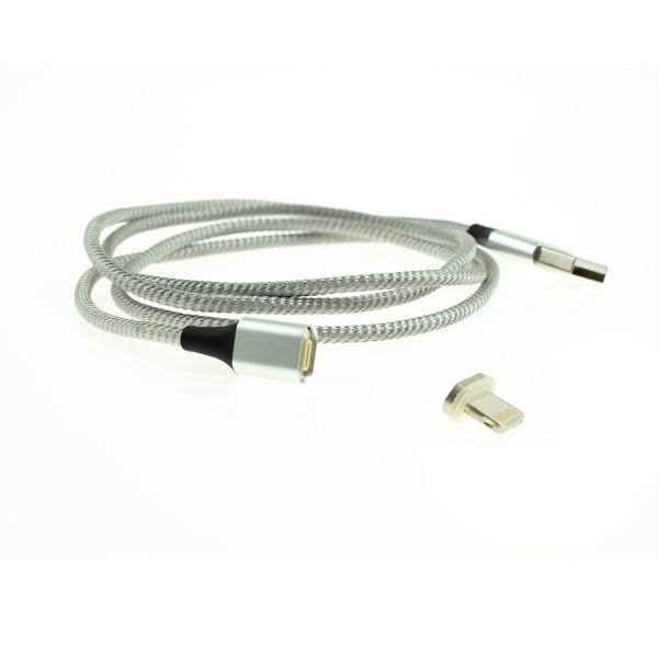 Apple Lightning magnetický kábel - 1m, strieborný 1