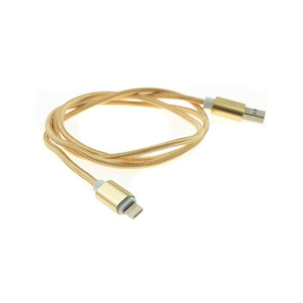 Apple Lightning nylonový kábel - 1m, zlatý 1
