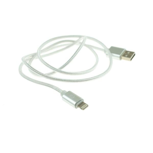 Apple Lightning nylonový kábel - 1m, biely 2