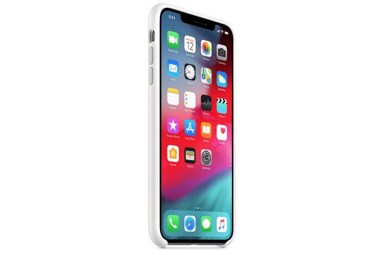 Apple silikónový obal pre iPhone XS Max – biely 2