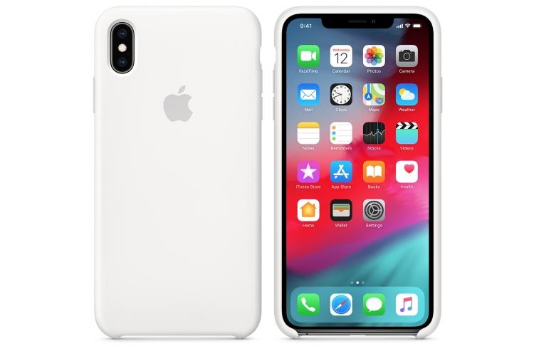 Apple silikónový obal pre iPhone XS Max – biely 3
