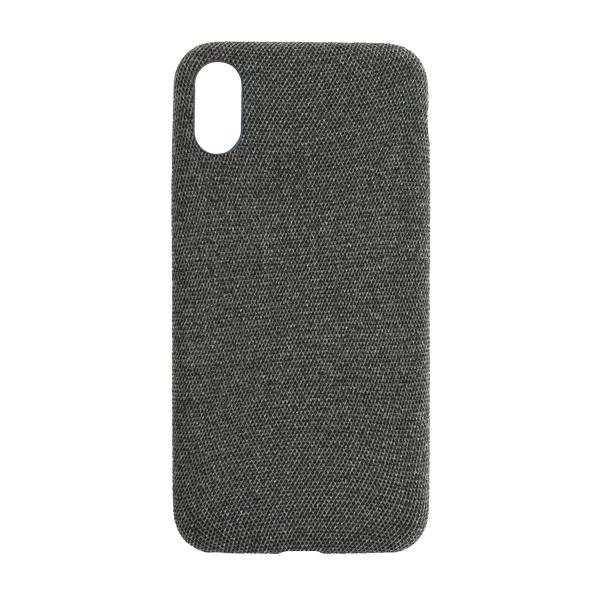 Látkový ochranný obal (tmavosivý) - iPhone XS 1